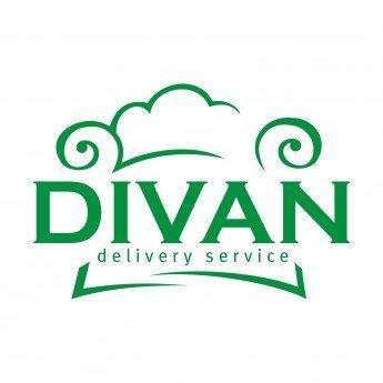 Логотип - DIVAN Delivery Service, доставка еды и напитков
