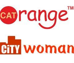 Логотип - City WOMAN & Cat Orange, магазины стильной женской одежды