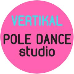 Логотип - Школа POLE DANCE «Vertikal» ОБЪЯВЛЯЕТ НАБОР