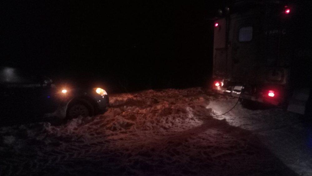 В Донецкой области спасатели 46 раз доставали автомобили из снежных заносов , фото-9