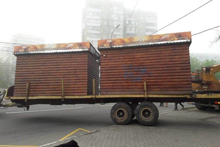 В Левобережном районе демонтировали два хлебных МАФа, - ФОТО, фото-3