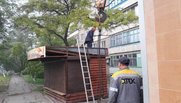 В Левобережном районе демонтировали два хлебных МАФа, - ФОТО, фото-4