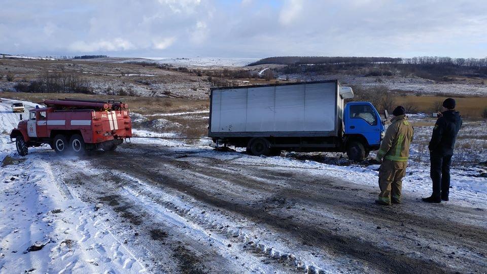 На трассе Мариуполь-Запорожье застрял грузовик, - ФОТО, фото-2