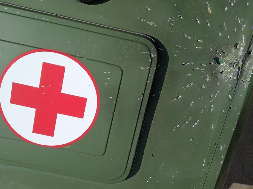 Под Мариуполем противник обстрелял медицинский автомобиль,-ОСС, фото-2