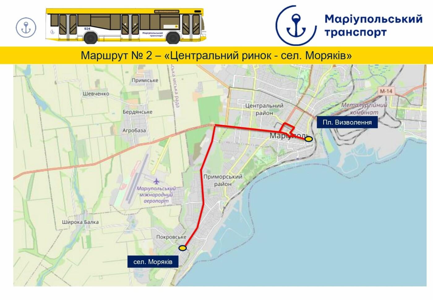 Перемены в транспорте: в Мариуполе отменили ряд маршрутных такси и изменили движение автобусов, фото-1