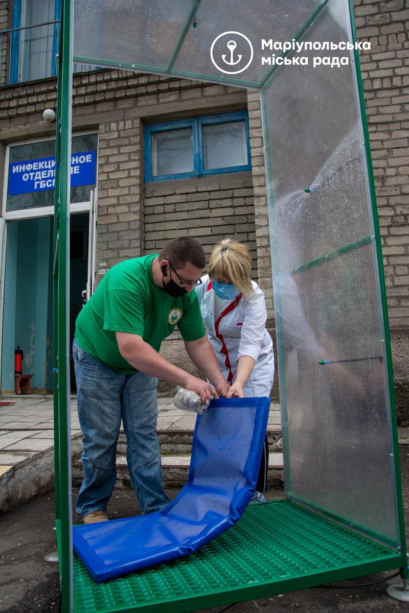В Мариуполе  для безопасности врачей закупили  специальные рамки,- ФОТО, фото-1