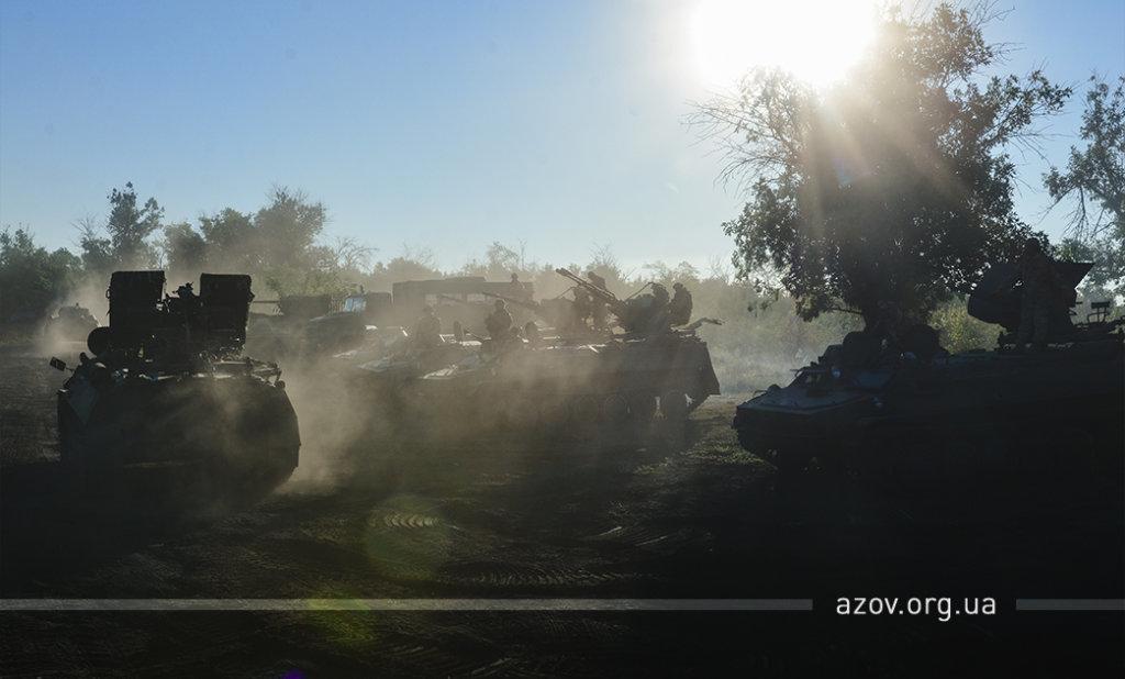 """""""Задача - уничтожить"""". """"Азов"""" и ВСУ  провели учения под Мариуполем, - ФОТО, ВИДЕО , фото-3"""
