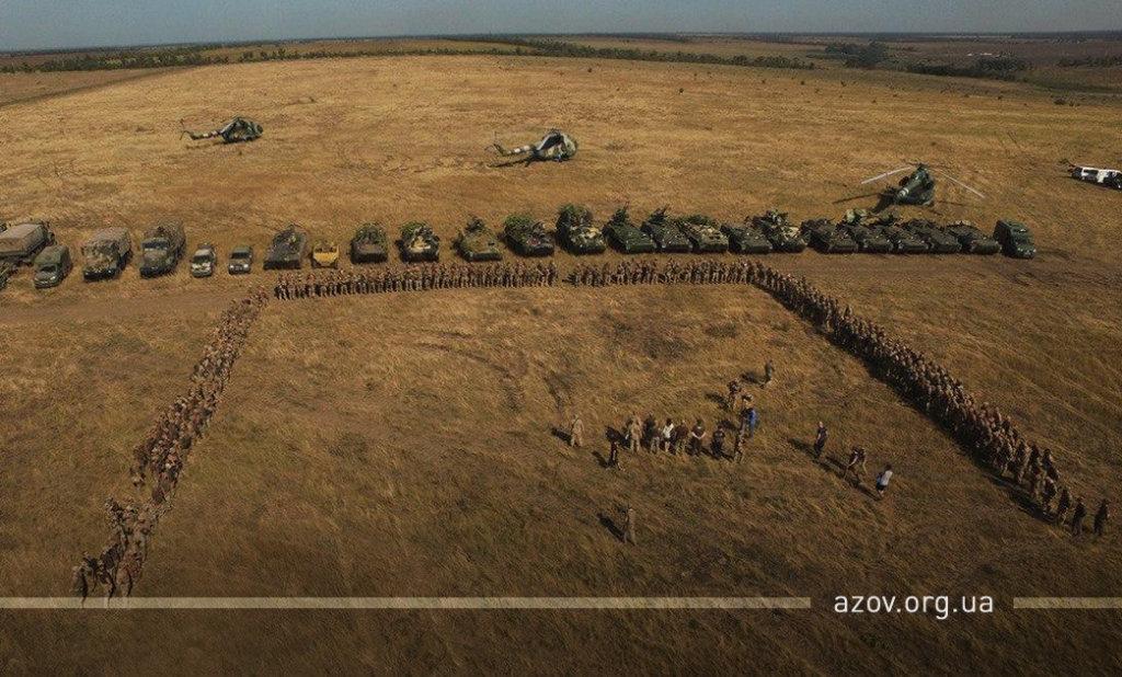 """""""Задача - уничтожить"""". """"Азов"""" и ВСУ  провели учения под Мариуполем, - ФОТО, ВИДЕО , фото-6"""