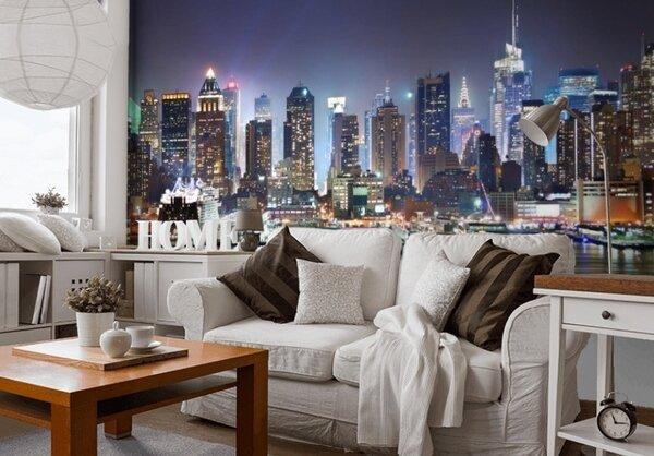 3Д фотообои с изображением городов