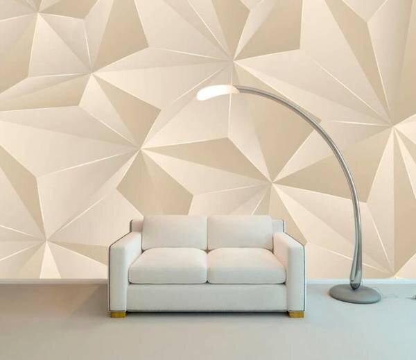 3D фотообои с геометрическим рисунком